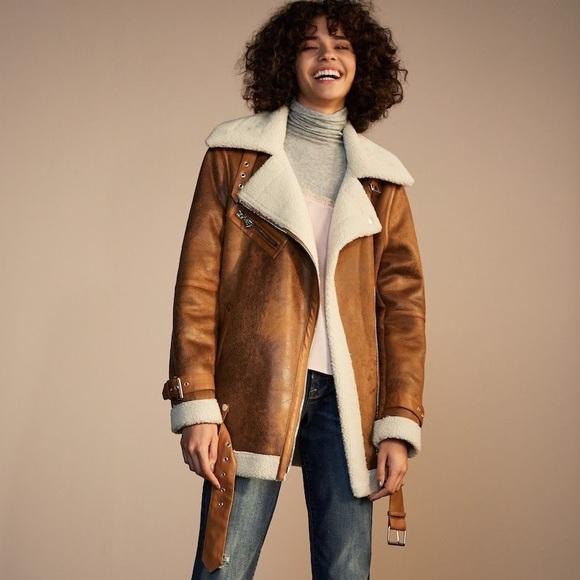 affbbd70df8 Avec Les Filles Jackets   Blazers - NWOT Avec Les Filles Faux Shearling  Biker Jacket